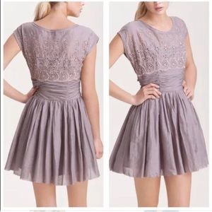 Free People Lilac Eyelet Garden Dress Size 8